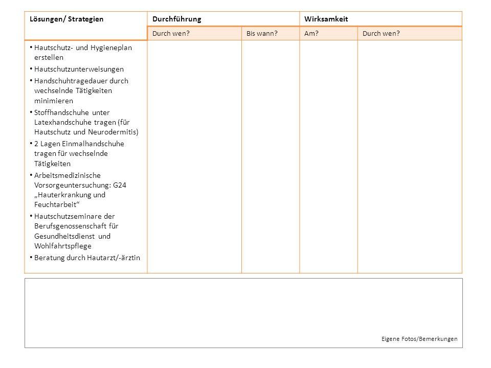 Hautschutz- und Hygieneplan erstellen Hautschutzunterweisungen