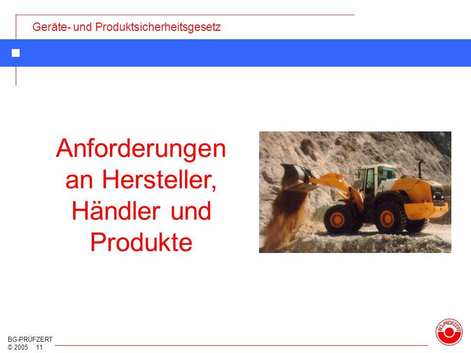 Anforderungen an Hersteller, Händler und Produkte
