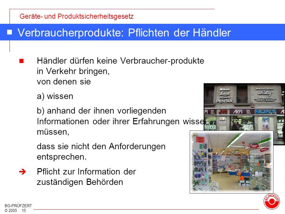 Verbraucherprodukte: Pflichten der Händler