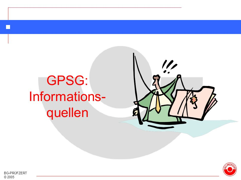 GPSG: Informations- quellen