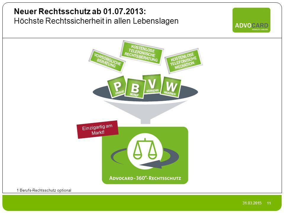 Neuer Rechtsschutz ab 01.07.2013: Höchste Rechtssicherheit in allen Lebenslagen