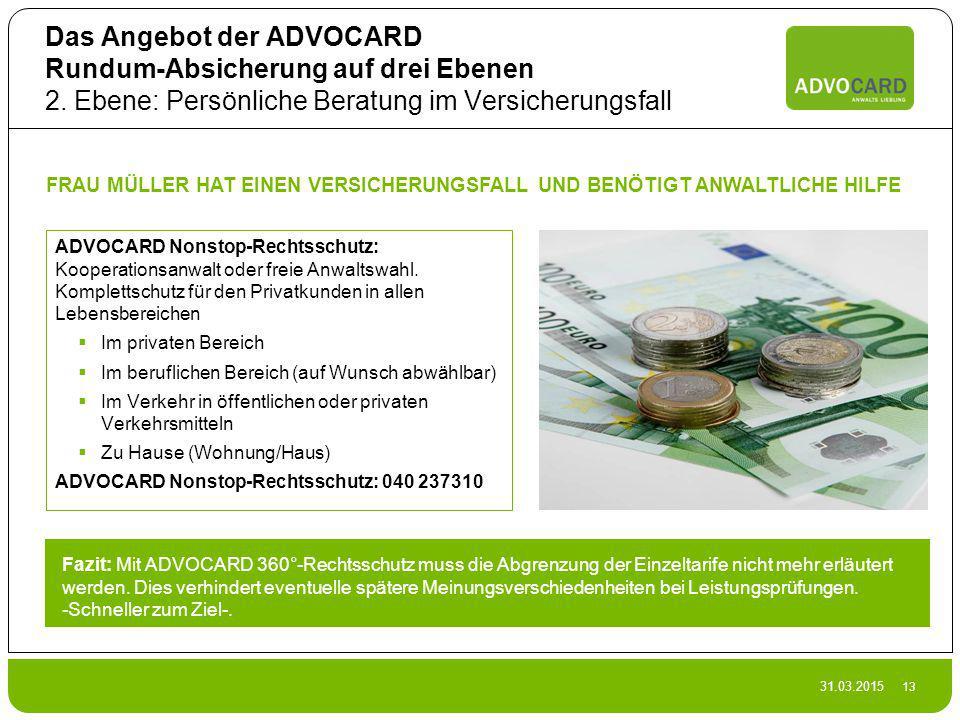Das Angebot der ADVOCARD Rundum-Absicherung auf drei Ebenen 2