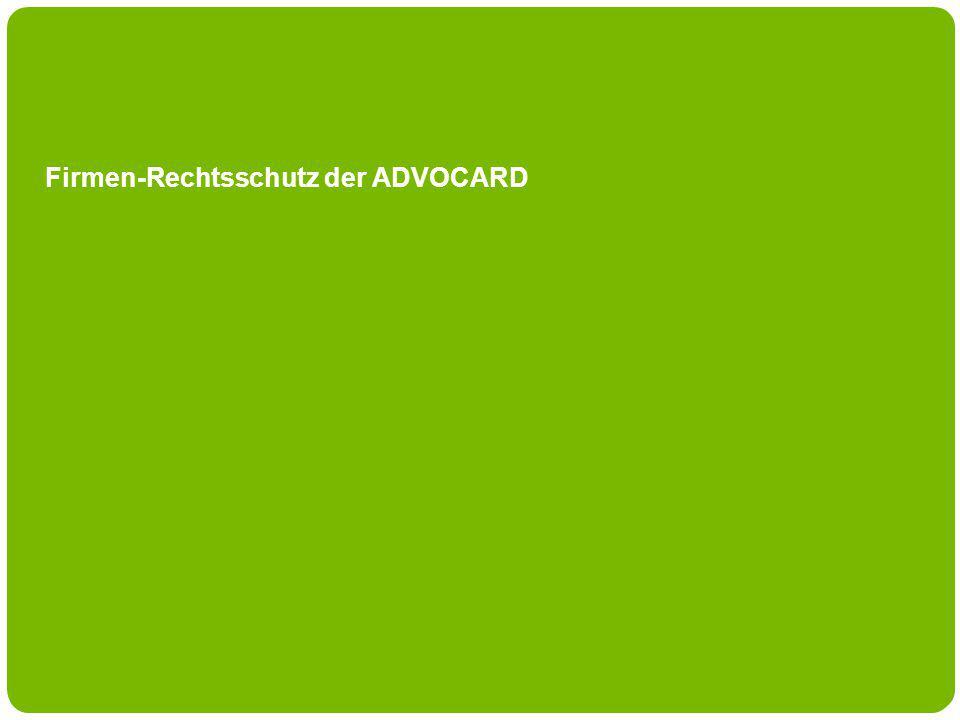 Firmen-Rechtsschutz der ADVOCARD