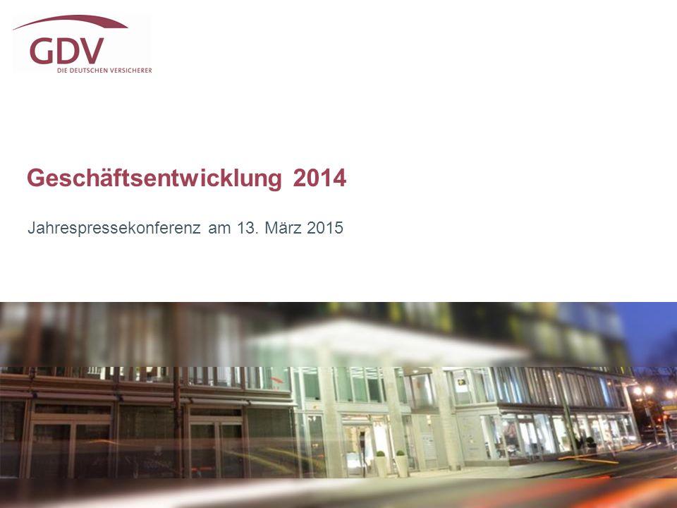 Geschäftsentwicklung 2014