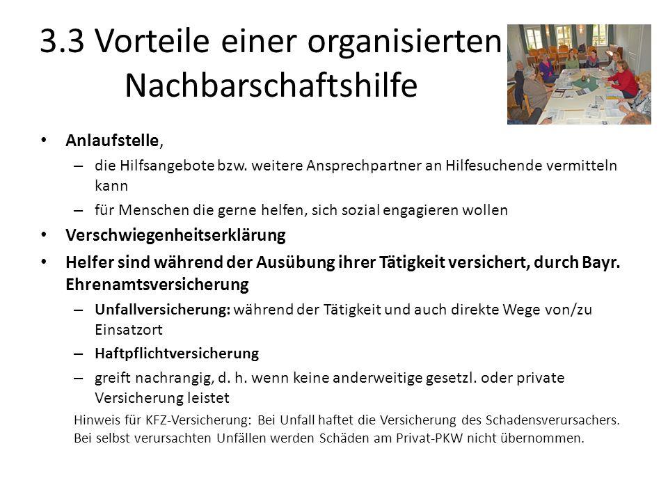 3.3 Vorteile einer organisierten Nachbarschaftshilfe