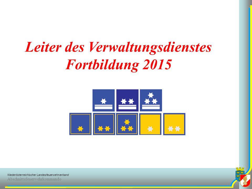 Leiter des Verwaltungsdienstes Fortbildung 2015