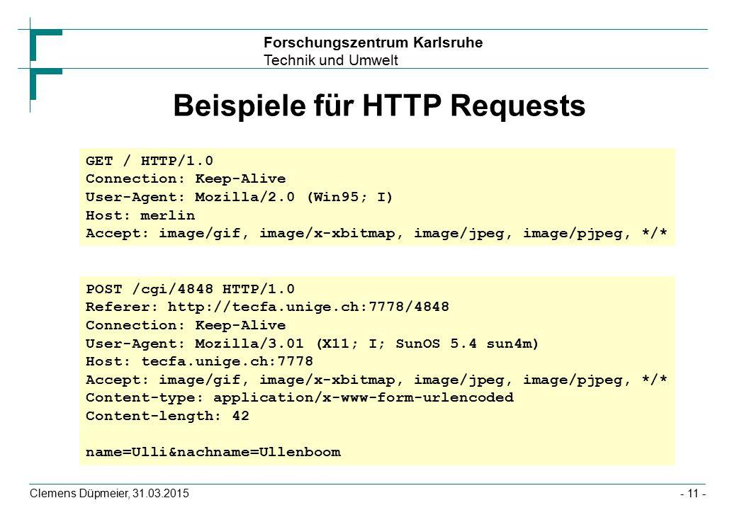 Beispiele für HTTP Requests