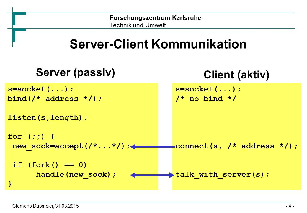 Server-Client Kommunikation
