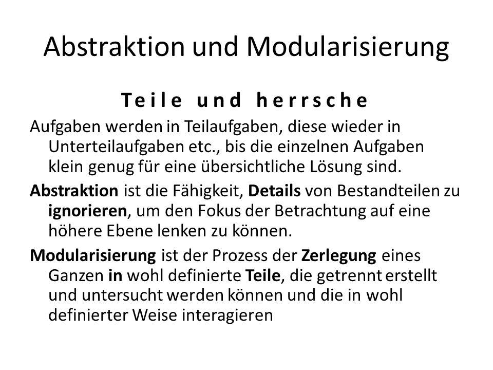 Abstraktion und Modularisierung