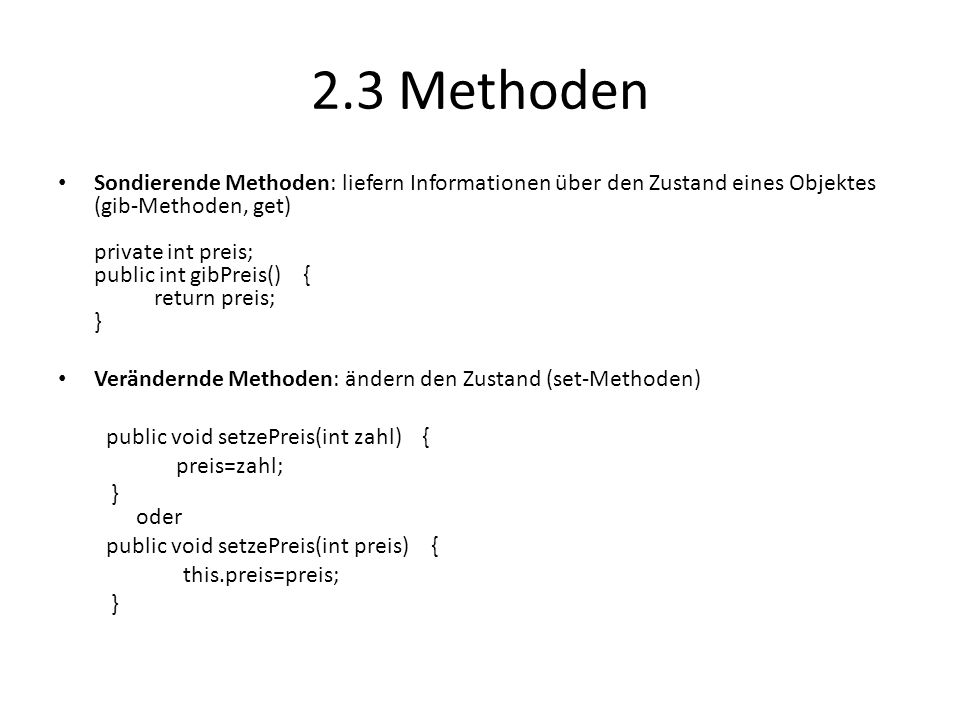 2.3 Methoden