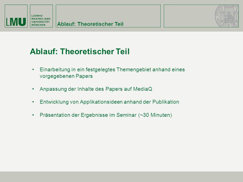 Ablauf: Theoretischer Teil