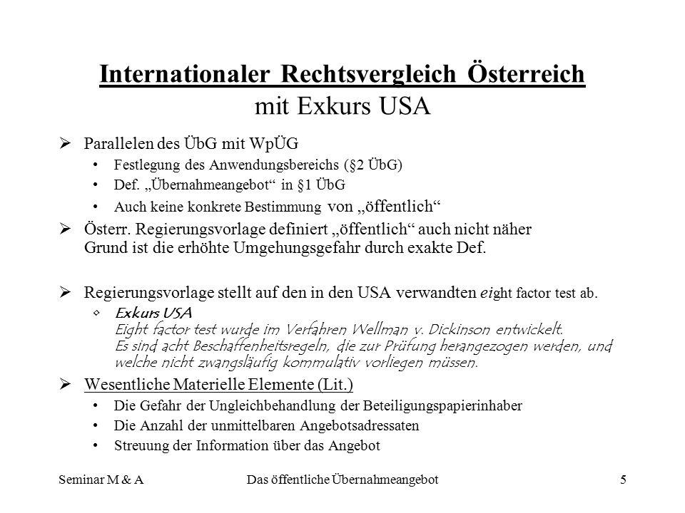 Internationaler Rechtsvergleich Österreich mit Exkurs USA
