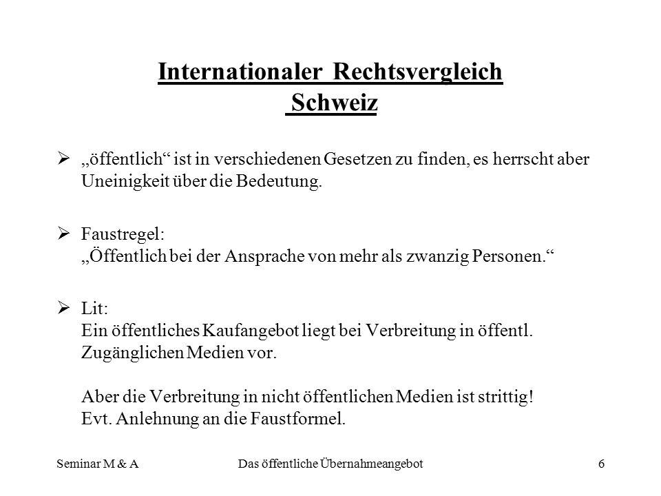 Internationaler Rechtsvergleich Schweiz