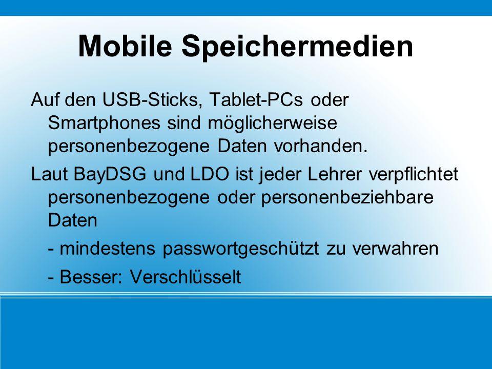 Mobile Speichermedien