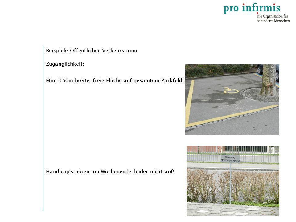 Beispiele Öffentlicher Verkehrsraum