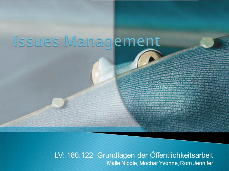 LV: 180.122 Grundlagen der Öffentlichkeitsarbeit