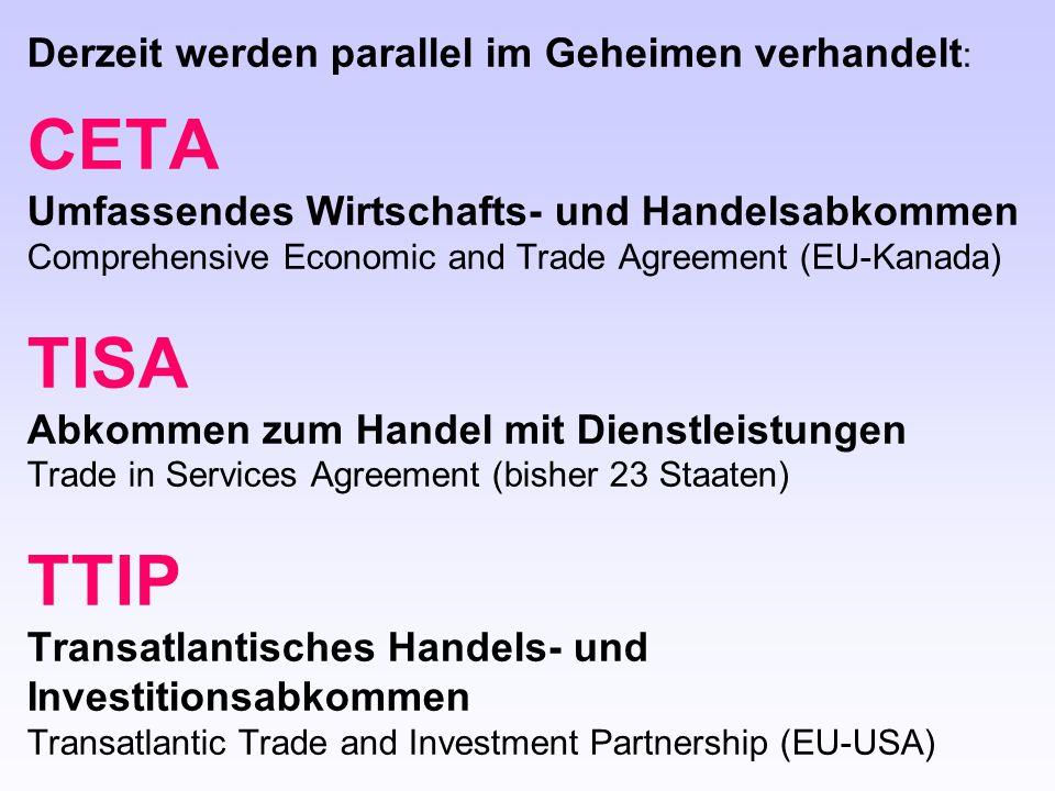 TTIP Transatlantisches Handels- und Investitionsabkommen