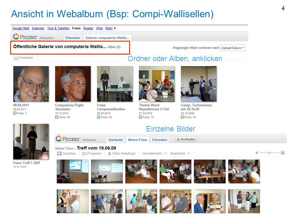 Ansicht in Webalbum (Bsp: Compi-Wallisellen)