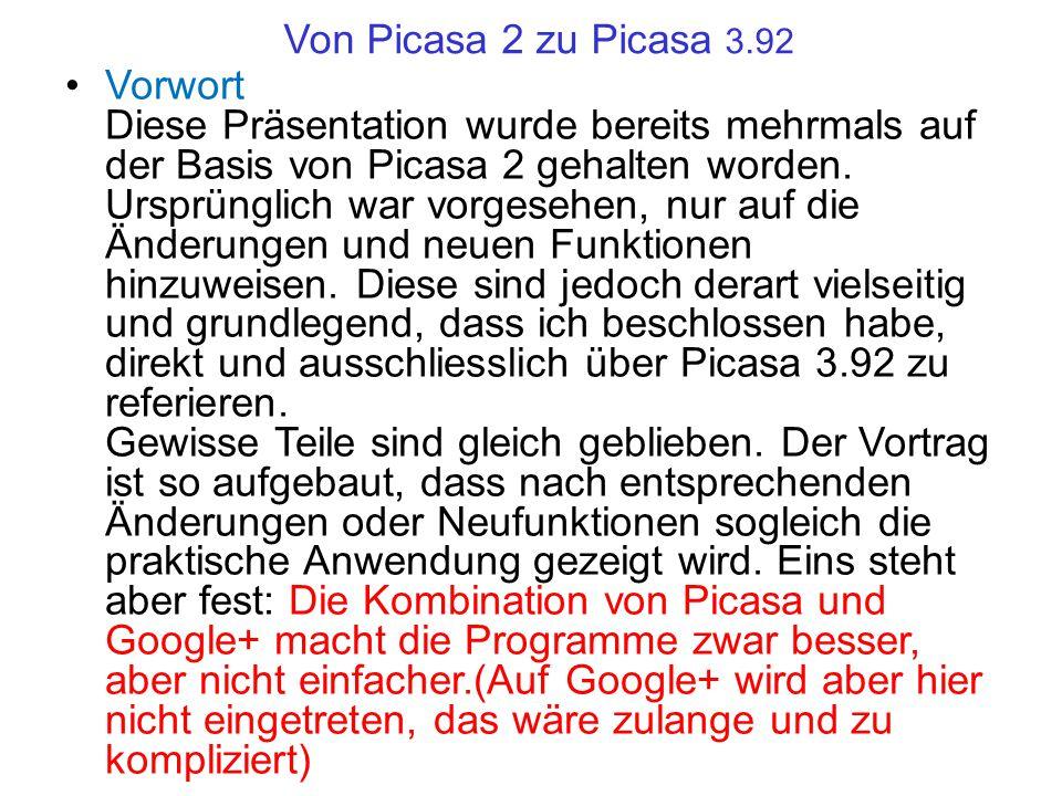 Von Picasa 2 zu Picasa 3.92
