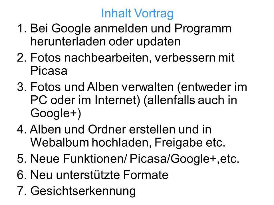 1. Bei Google anmelden und Programm herunterladen oder updaten