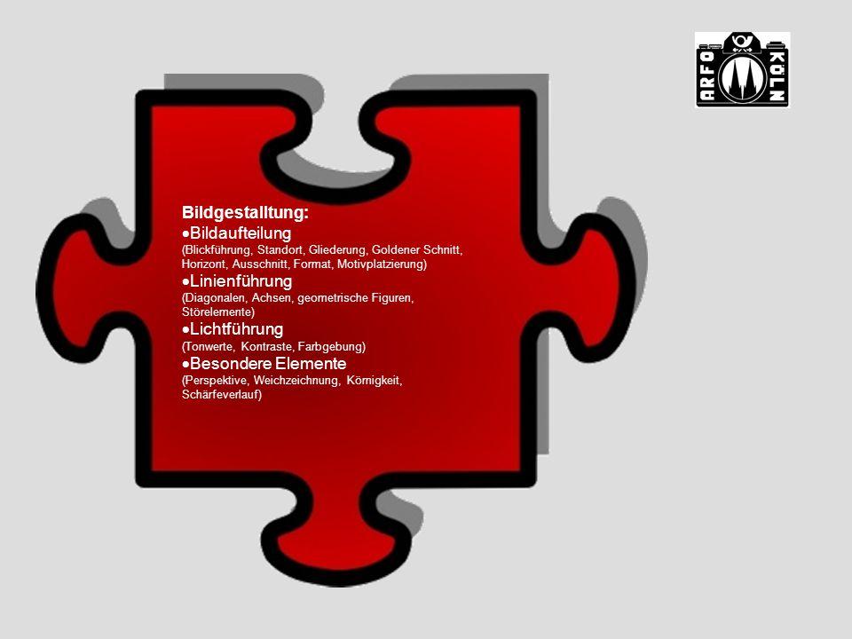 Bildgestalltung: Bildaufteilung (Blickführung, Standort, Gliederung, Goldener Schnitt, Horizont, Ausschnitt, Format, Motivplatzierung)
