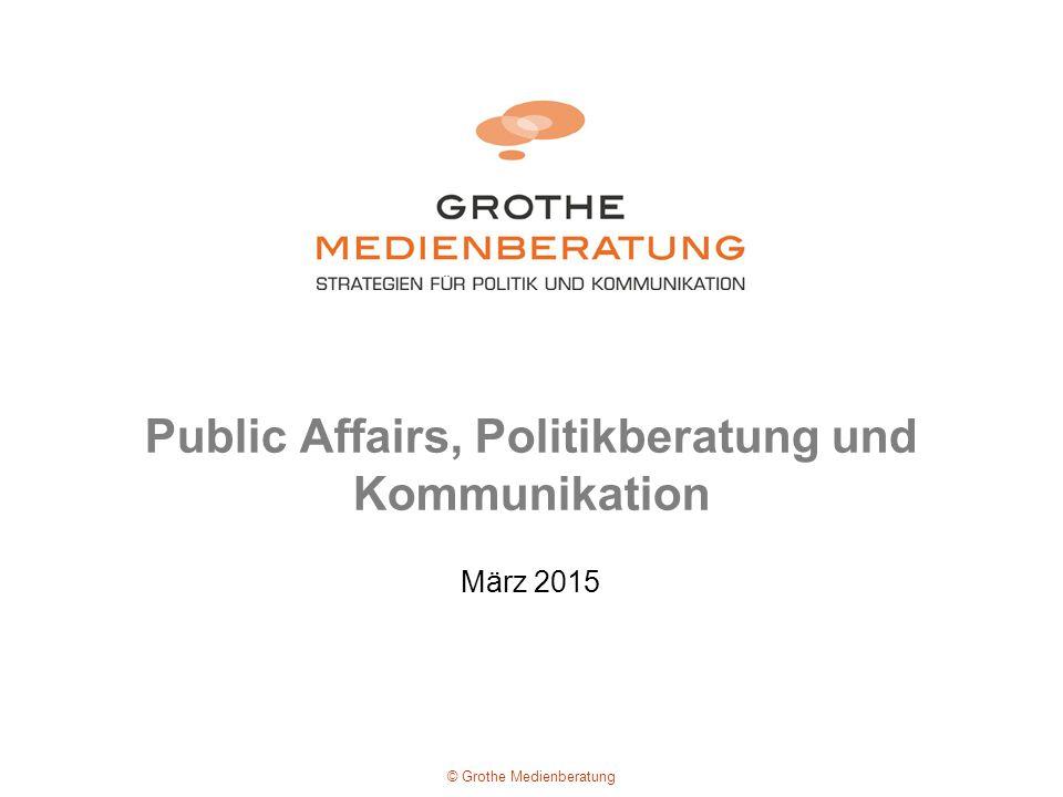Public Affairs, Politikberatung und Kommunikation