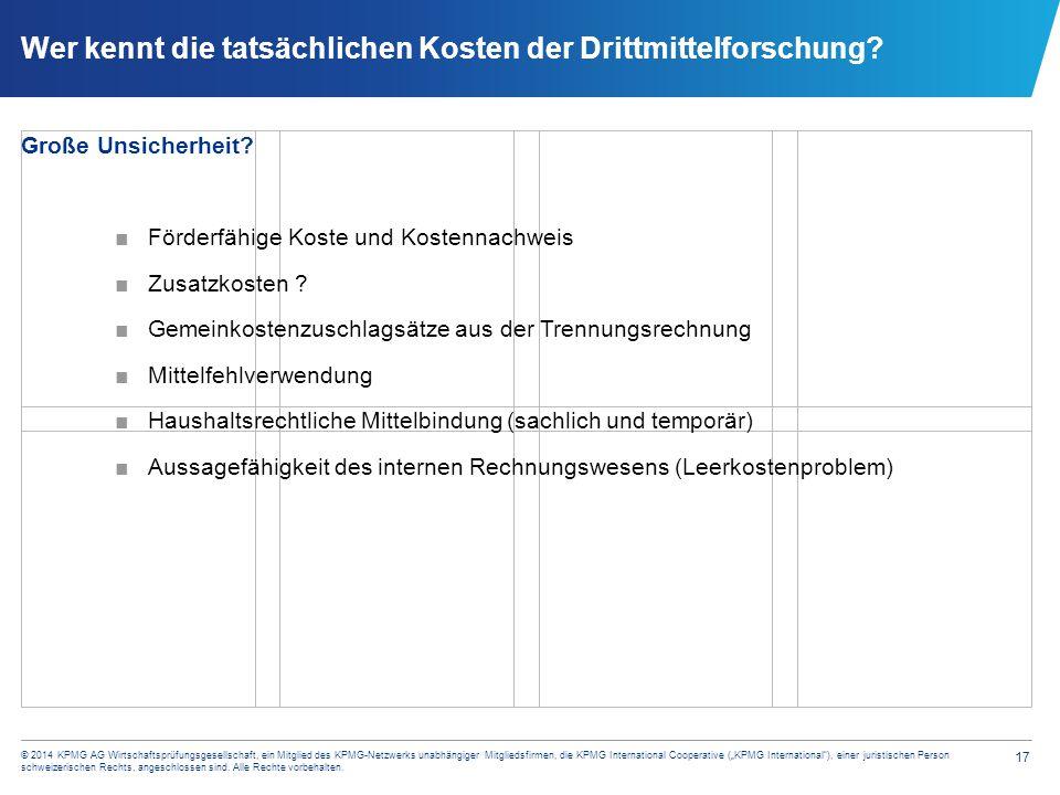 Erfassung der Drittmittel im Rechnungswesen (Beispiel)