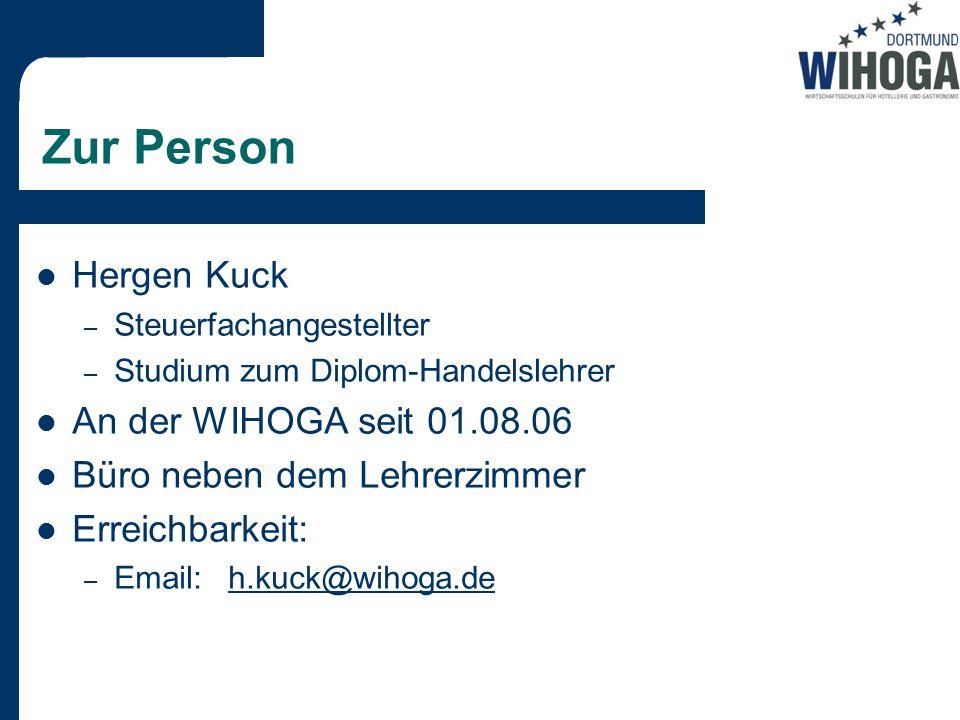 Zur Person Hergen Kuck An der WIHOGA seit 01.08.06