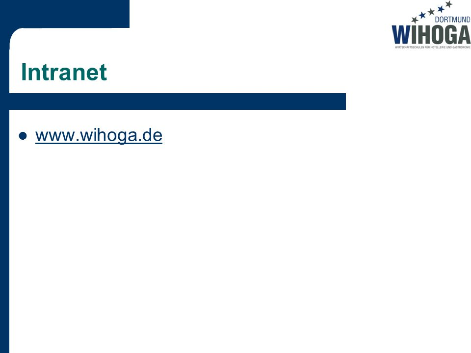 Intranet www.wihoga.de