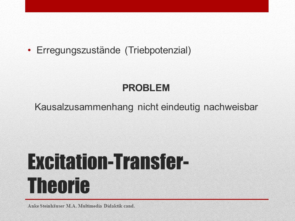 Excitation-Transfer-Theorie