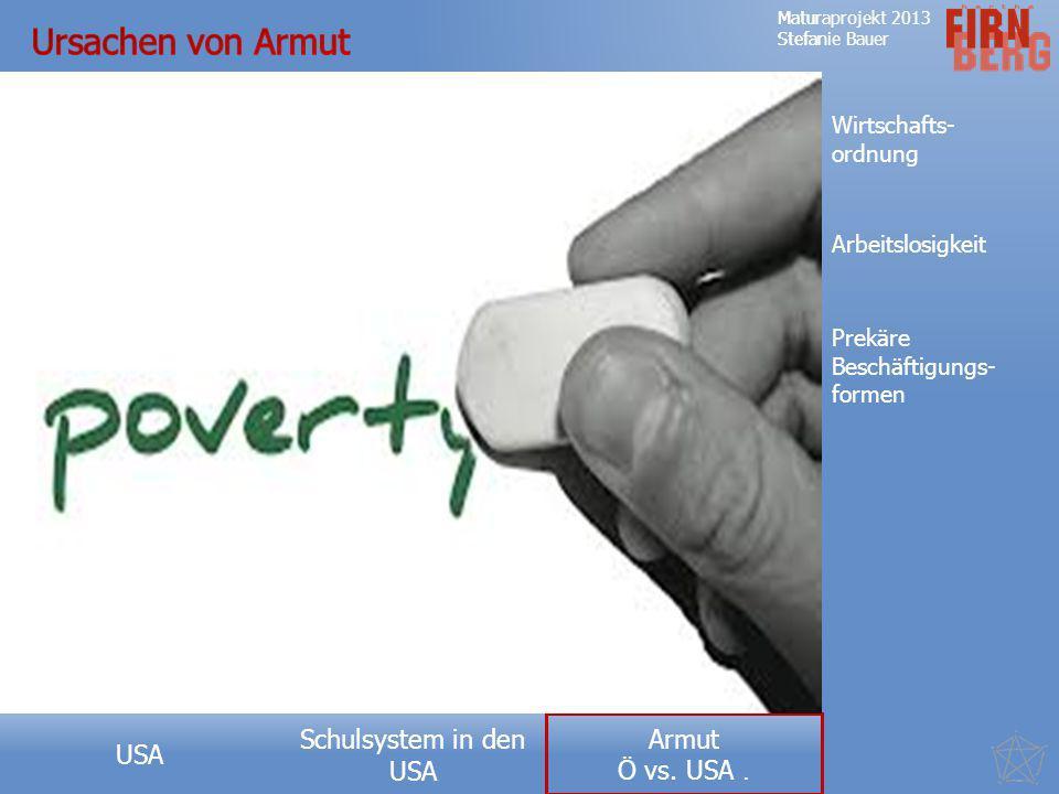 Ursachen von Armut Wirtschafts- ordnung Arbeitslosigkeit