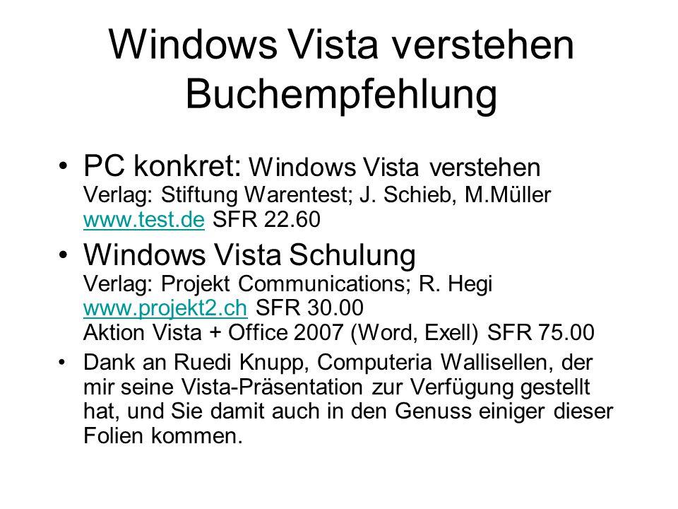 Windows Vista verstehen Buchempfehlung