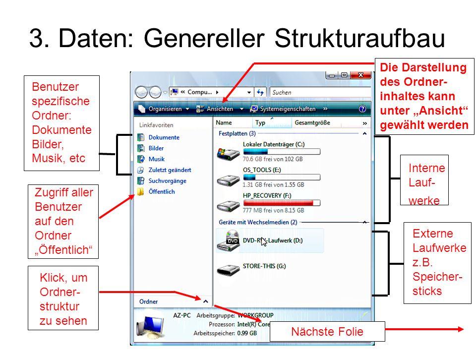 3. Daten: Genereller Strukturaufbau
