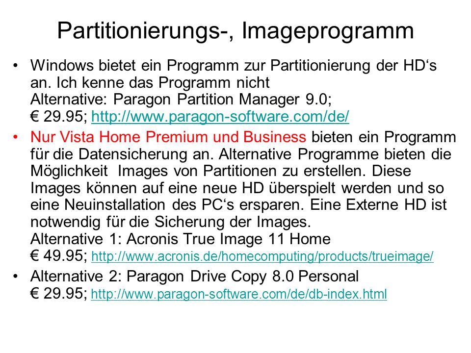 Partitionierungs-, Imageprogramm