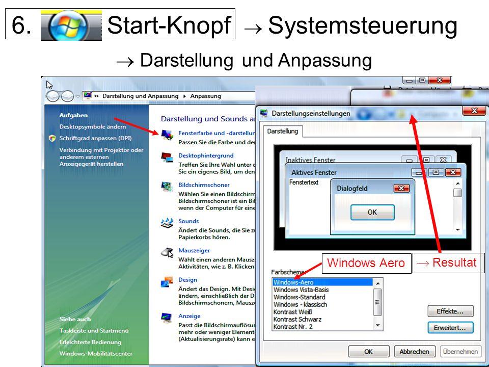 6. Start-Knopf  Systemsteuerung