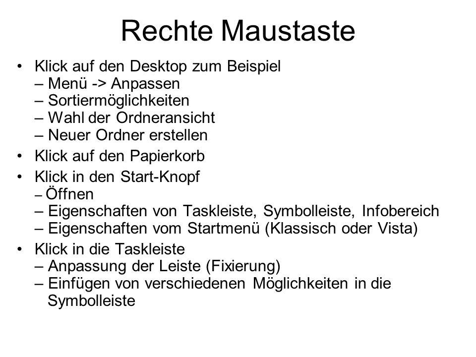 Rechte Maustaste Klick auf den Desktop zum Beispiel – Menü -> Anpassen – Sortiermöglichkeiten – Wahl der Ordneransicht – Neuer Ordner erstellen.