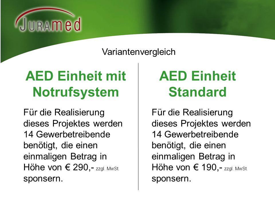 AED Einheit mit Notrufsystem