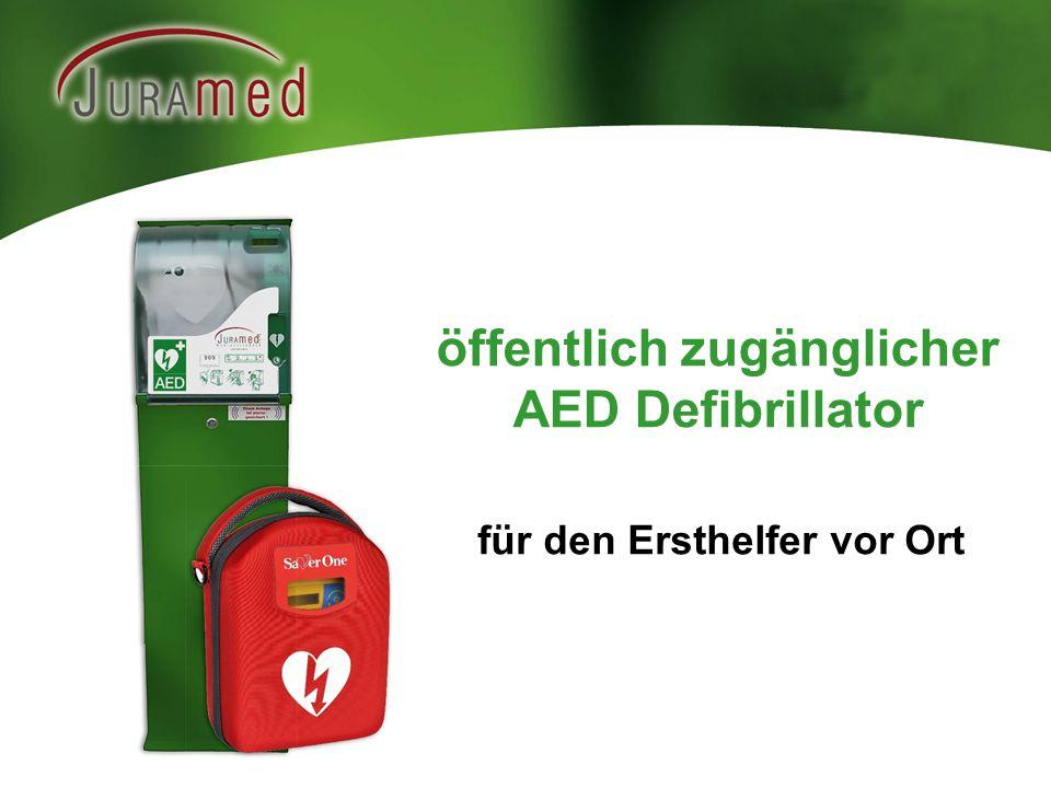 öffentlich zugänglicher AED Defibrillator