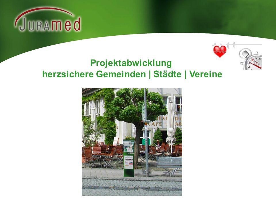 Projektabwicklung herzsichere Gemeinden | Städte | Vereine