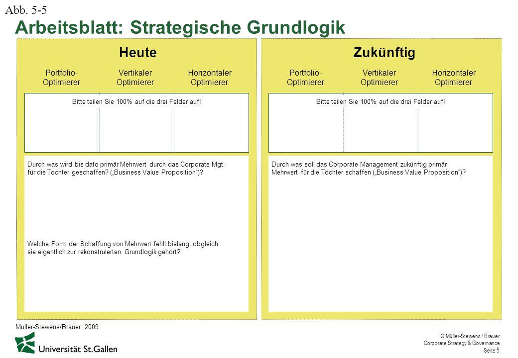 Arbeitsblatt: Strategische Grundlogik