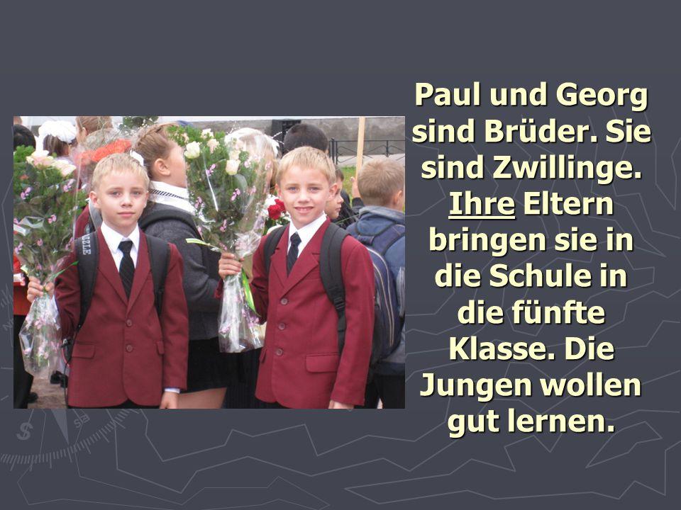 Paul und Georg sind Brüder. Sie sind Zwillinge