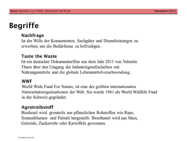 News Aktuelles aus Politik, Wirtschaft und Recht November/2012