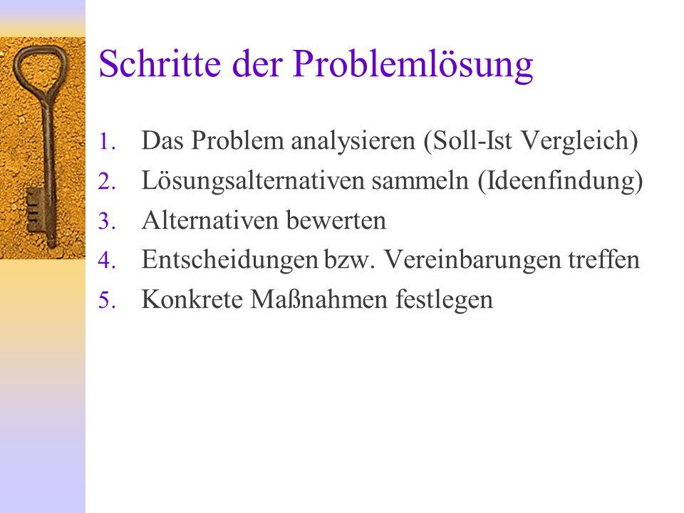 Schritte der Problemlösung