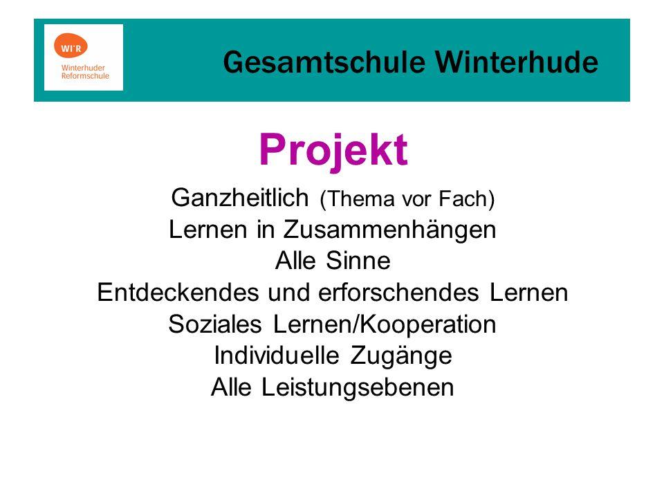 Projekt Ganzheitlich (Thema vor Fach) Lernen in Zusammenhängen