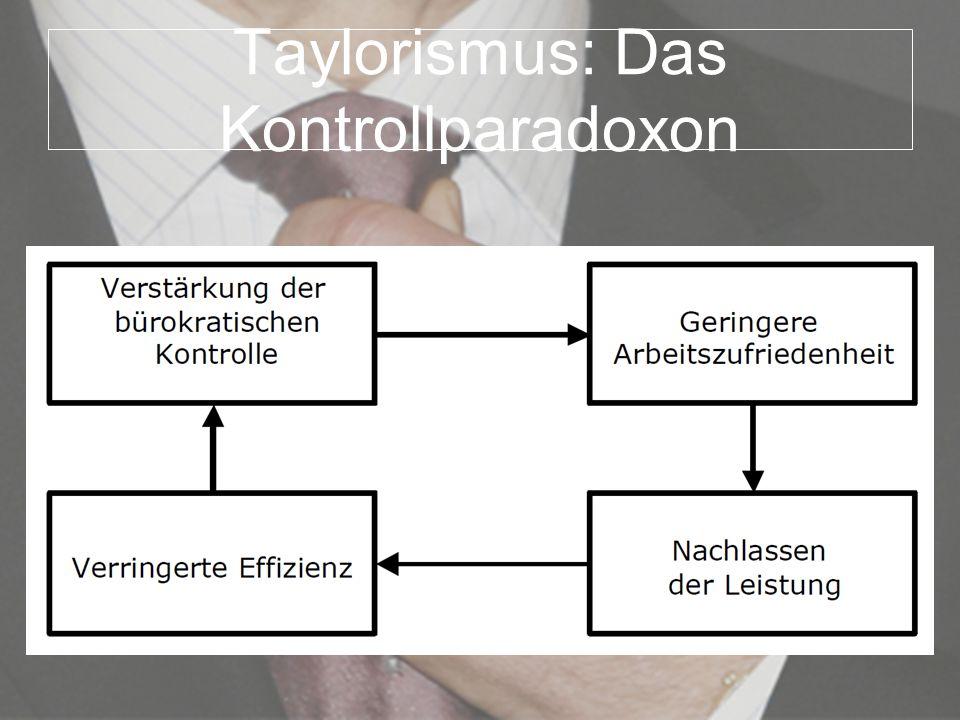 Taylorismus: Das Kontrollparadoxon