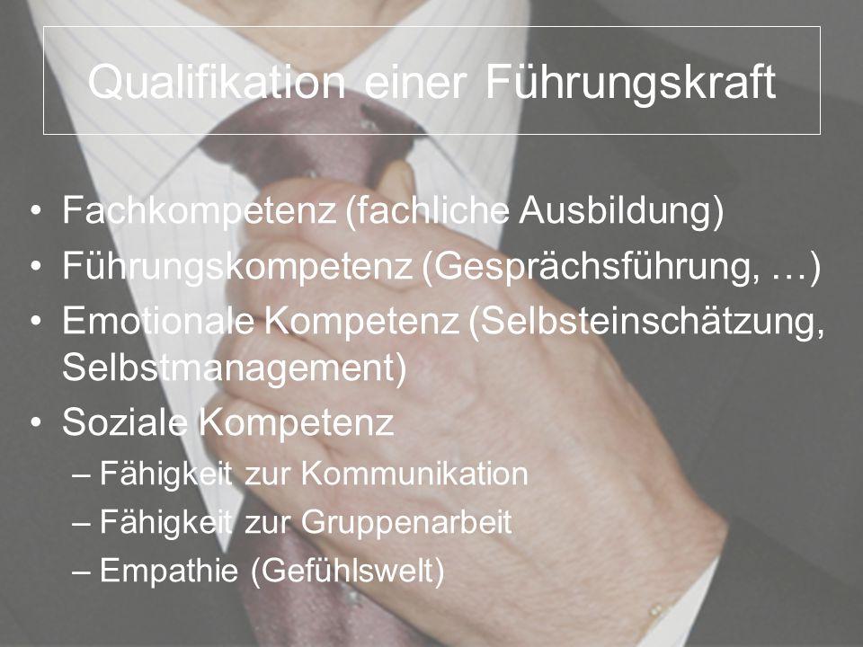 Qualifikation einer Führungskraft