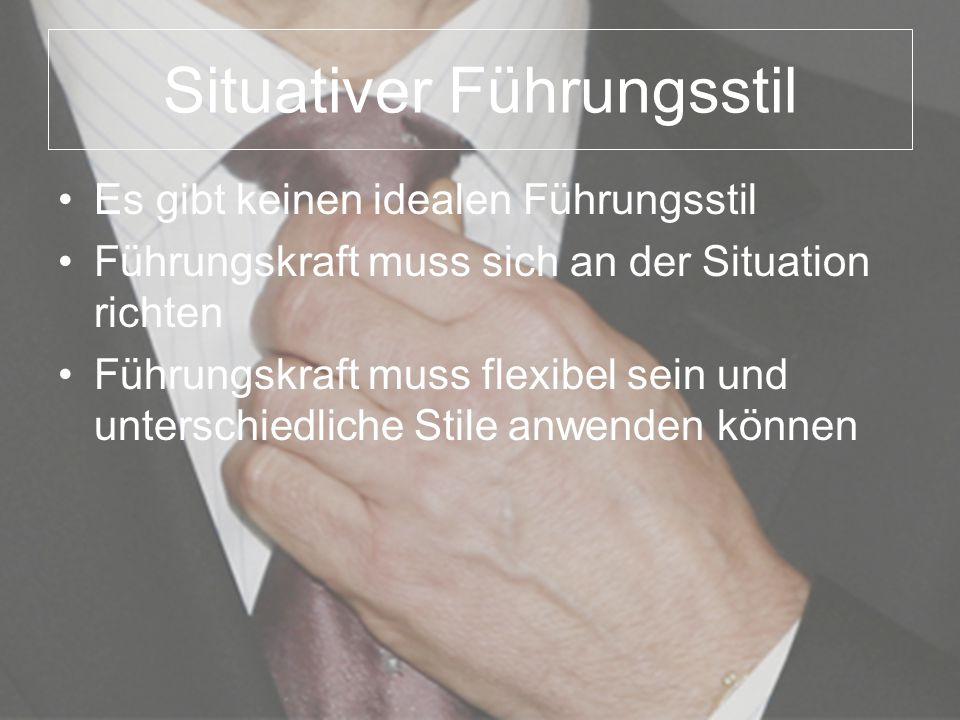 Situativer Führungsstil