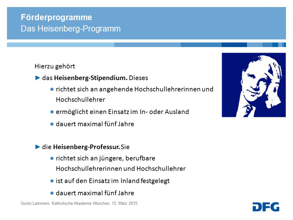 Das Heisenberg-Programm