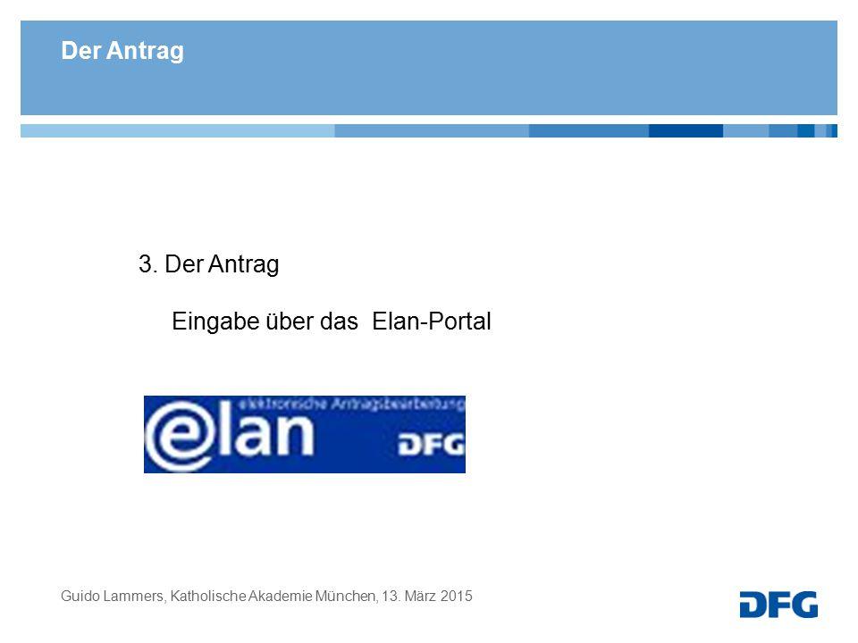 Eingabe über das Elan-Portal