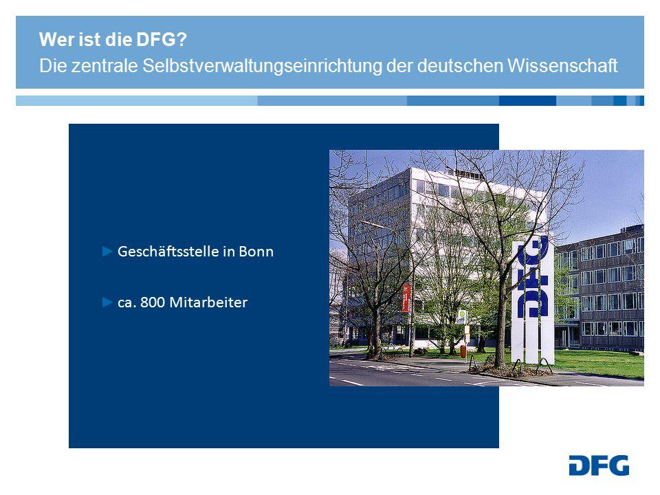 Wer ist die DFG Die zentrale Selbstverwaltungseinrichtung der deutschen Wissenschaft